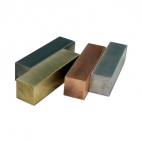 Specific Gravity Set of 4 Blocks. Brass, Al, Steel, Cu 13x13x50mm.