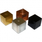 Density Block Set of 4. 2.5cm Cube.  No Hooks.