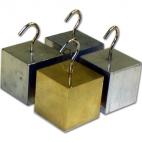 Density Block Set of 4 with Hook. (25mm Al, Br,Steel Pltd,Zn).