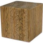"""Cube, Lignum Vitae Iron Wood 1""""."""