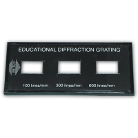 Diffraction Grating, Demonstration3 Sets of Lines