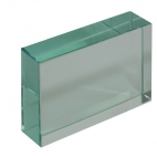 Glass Block, 7.5 x 5 x 1.8cm.