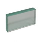 Glass Block, 11.4 x 6.2 x 1.8cm.
