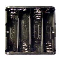Battery Holder 4 Slot Aa w/Leads
