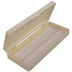 Microscope Slide Case, 100 Slides, Plastic.