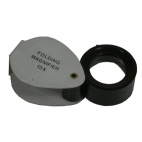 Magnifier, Pocket Fold 1 Lens. Metal Case, 3X.