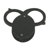 Magnifier, Folding, Pocket, 6X, Metal Case, 2 Lenses