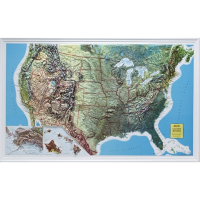 Raised Relief Map Usa Oversize Science First - Us raised relief map