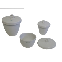 Crucible Porcelain  Med. Wall w/Lid 100ml