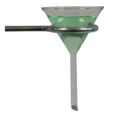 Funnel Filter Glass Short Stem. 90mm Diameter.
