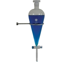 Funnel Separatory Glass Pear, Fluoropolymer (PTFE) Stopcock, Glass Stopper 250