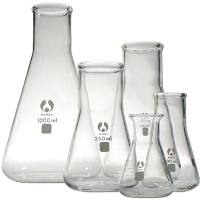 Conical Flask Glass Narrow Neck Graduated.50ml