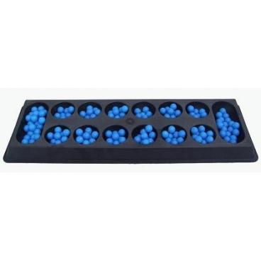 Kalah Board Game With Beads.