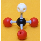 Calcium Carbonate Molecule Model