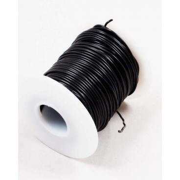 Wire, Multistrand, Black, 100'