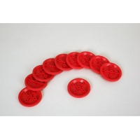 Pulleys, Plastic 20mm, Pkg Of 10