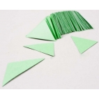 Triangles, Cardboard Green 100/pk