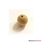 Ball, Wood 25mm With Hole.