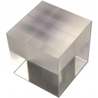 "Acrylic Refraction Cube 1""."