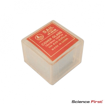 Microscope Cover Slips Square 18 x 18mm, pack of 100.