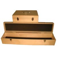 Plywood Carry Case for bottles and corers, Plywood, 38 x 8 x 8""