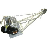 Combination Winch and Depth Meter, Aluminum, English (feet)