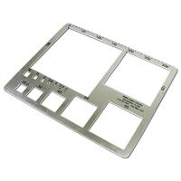 Gravelometer, aluminum, US SAH-97, 13.5in x 11in, 0.62 lbs