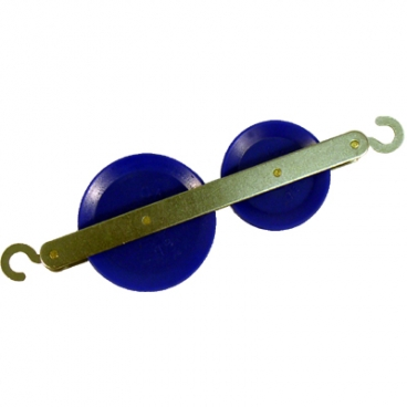 Pulley, Inline Plastic Double.