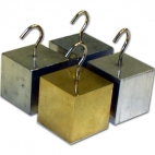 Density Block Set of 4 with Hook. (25mm Al, Br,Steel Pltd,Zn).