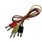 Banana Plug Wires, Set of 3, 42cm.
