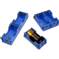 Battery Holder D-cell, Plastic Connectable