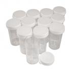 Vials, Plastic, 5 dram, Rack of 144