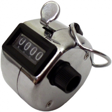"""Counter Tally Hand-Held 4Digit. 2 X 1.5 X 2""""."""