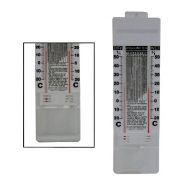 Hygrometer, Wet/Dry, Celsius.