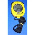 "Stopwatch, Water Resistant. 3 X 1.5 X 4.5""."