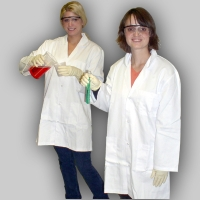 Lab Coat, Poly/Cotton Med.Chest 116Cm