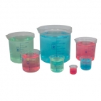 Beaker Polypropylene (10-250ml) 5Pc