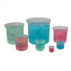 Beaker Polypropylene (50-1000ml) 5Pc