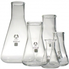 Conical Flask Glass Narrow Neck Graduated.100ml