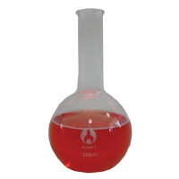 Boiling Flask Glass 100ml  FlatBottom Long Neck
