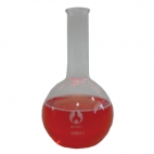 Boiling Flask Glass 100mL. Flat Bottom Long Neck.