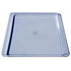 Tray, Plastic, Clear, 22.5x25.2cm.