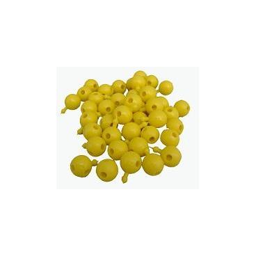 Pop Bead, 4-Way, Yellow, Pk300