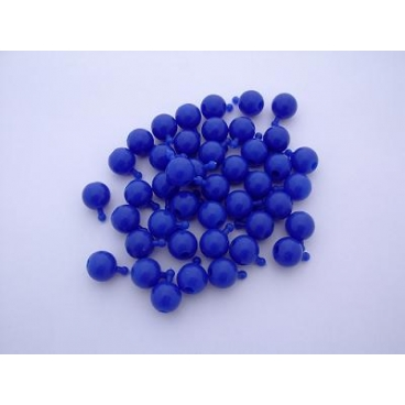 Pop Bead, 2-Way, Blue, Pk150, 1 Tab 1 Hole