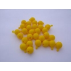 Pop Bead, 2-Way, Yellow, Pk150, 1 Tab 1 Hole