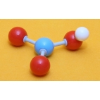 Nitric Acid Molecule Model