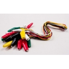 Alligator Clips with leads Pkg-10