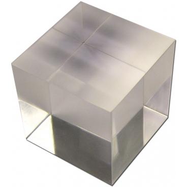 "Acrylic Refraction Cube 1""."