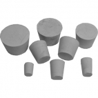 Rubber Stopper 12Tx8Bx17H, 1 Hole. Pk of 10.
