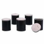 Radiation Can with lid, Pkg/5 (black)